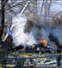 Flyet styrtet i et boligområde. Foto: AP.